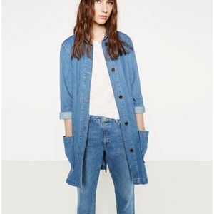 Zara Levita Denim Jean Mid Length Jacket